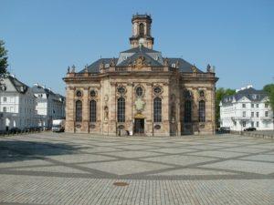 saarland - ludwigskirche in der landeshauptstadt saarbrücken